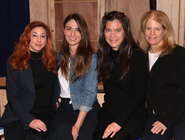 The Waitress musical all-female creative team: Lorin Latarro, Sara Bareilles, Diane Paulus and Jessie Nelson.