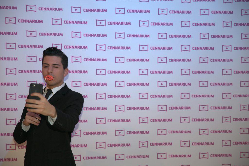 Cennarium launch: step and repeat selfie