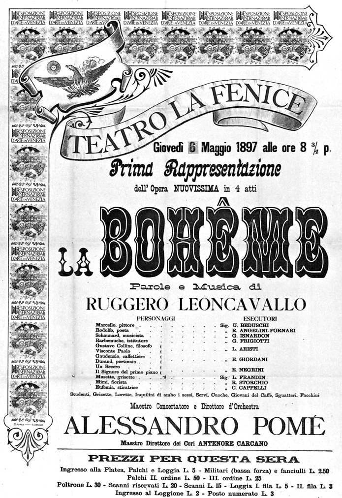 La Bohème is probably the most famous work composed by Leoncavallo.