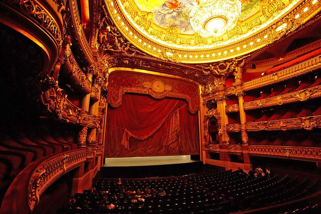 The Palais Garnier auditorium where the Paris Opera ballet constantly performs. Another one of the best ballet schools in the world.