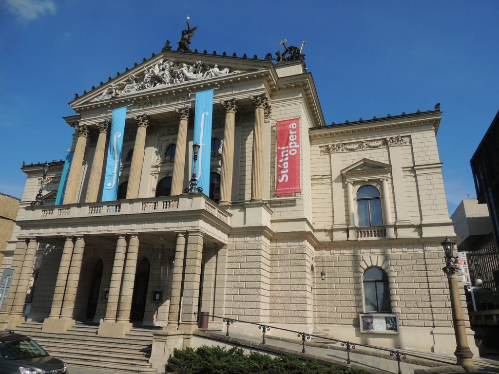 Things to do in Prague: watch opera at the Prague State Opera House.