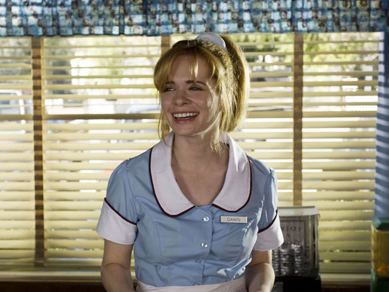 Adrienne Shelly in the Waitress musical.